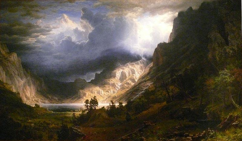 Albert Bierstadt A Storm in the Rocky Mountains